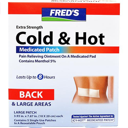 Wholesale 5CT MEDICATED COLD & HOT PATCH