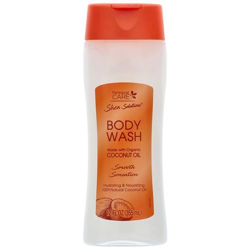 Wholesale Body Wash Organic Coconut Oil 12 oz