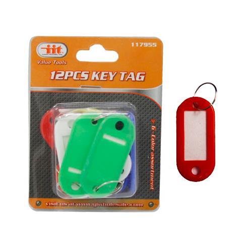 Wholesale 12PC PLASTIC KEY TAGS