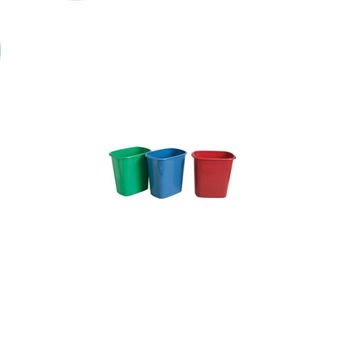 "Wholesale Trash Can Red, Green 10.75"" x 7.25"" x 10.5"""