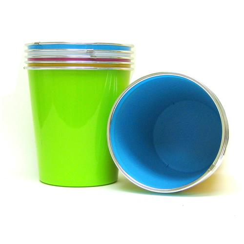 "Wholesale Trash Can-4 Assorted Bright Colors 8.5""x8.75"""
