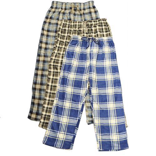 Wholesale FLANNEL LOUNGE PANTS ASTD SIZE