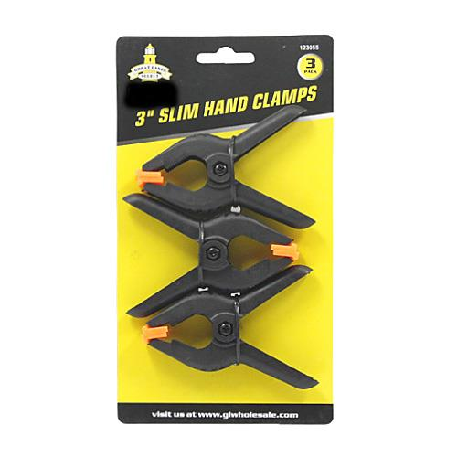 "Wholesale 3PK 3"" FLEX JAW SPRING CLAMPS"