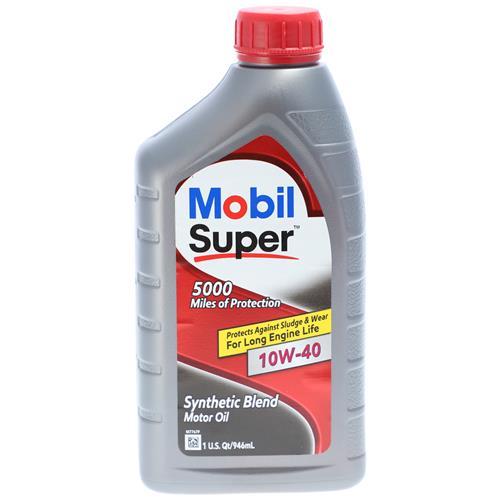 Wholesale 1qt MOBIL SUPER SYNTHETIC BLEND 10W40 5000 MILES