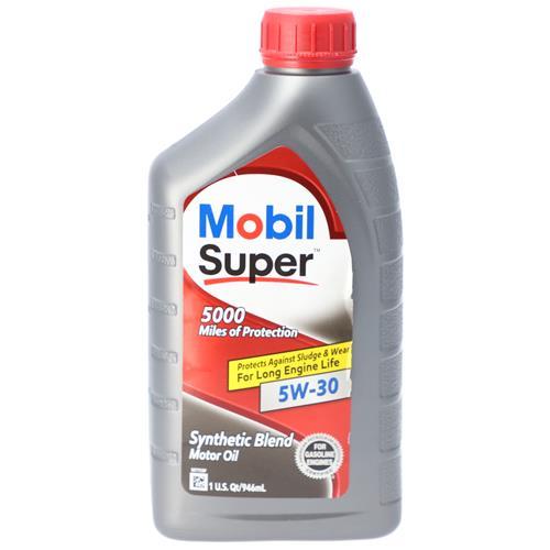 Wholesale 1QT MOBIL SUPER 5W30 SYNTHETIC BLEND 5000 MILES