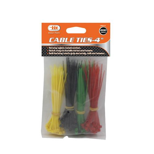 Wholesale 200pc CABLE TIES - 4""