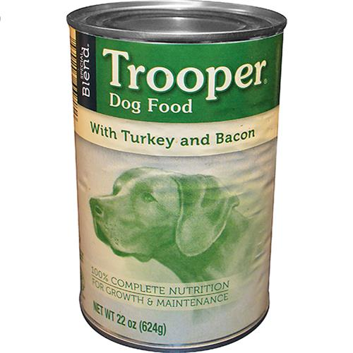Wholesale Trooper Dog Food Turkey/Bacon Can