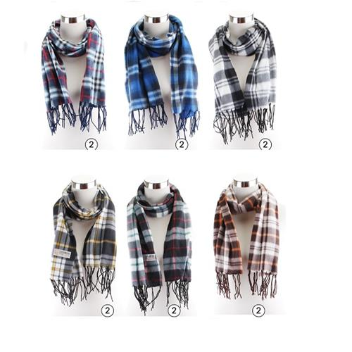 Wholesale WINTER SCARF FLEECE PLAID
