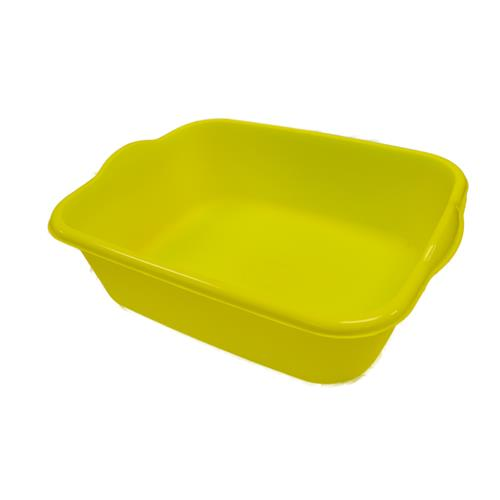 "Wholesale Plastic Rectangular Dishpan Assorted Colors 14.75"" x 11"" x 4.25"""
