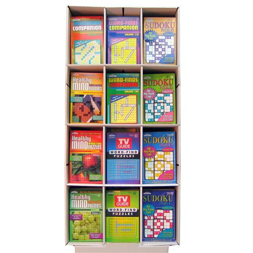 Wholesale Asst Puzzle 5x8 Book Floor Display 128 pg, 6 vol,