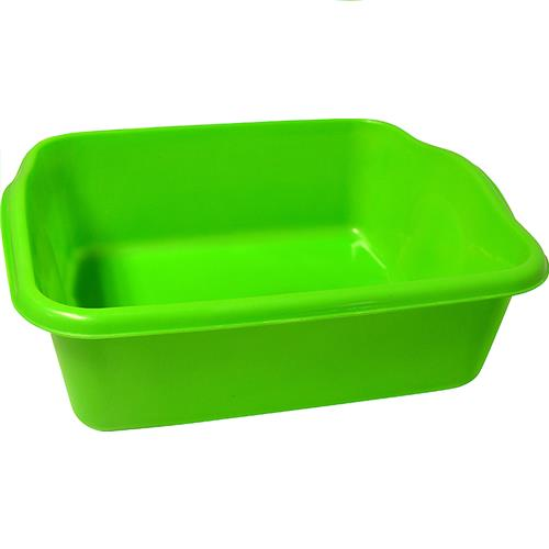 "Wholesale Plastic Rectangular Dishpan Assorted Colors 14.75"" x 12"" x 4"""