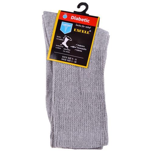 Wholesale Diabetic Crew Sock Grey 9-11