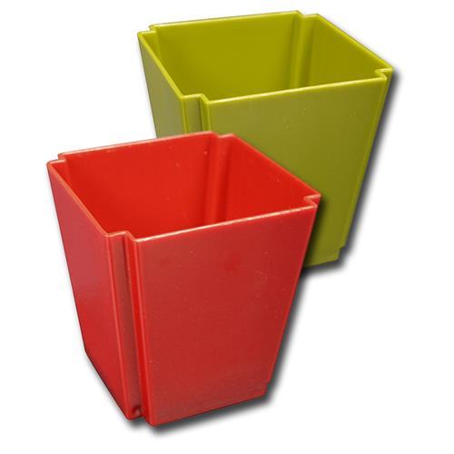 """Wholesale 4"""" SQUARE PLASTIC VASE ASSORTE"""