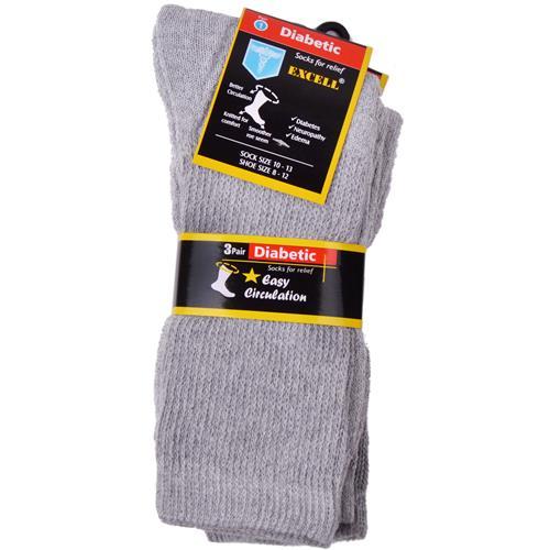 Wholesale Diabetic Crew Sock White 10-13