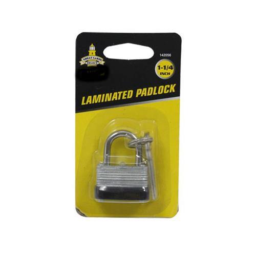 """Wholesale 1-1/4"""" LAMINATED PADLOCK"""