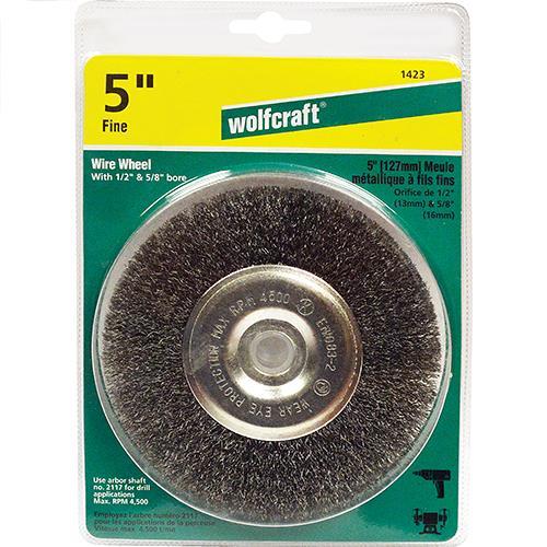 5 Quot Fine Crimped Wire Wheel Fits Bench Grinder Drills 1 2