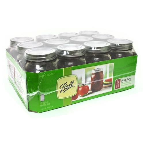 Wholesale Pint Canning Jar - Regualr Mouth - Ball