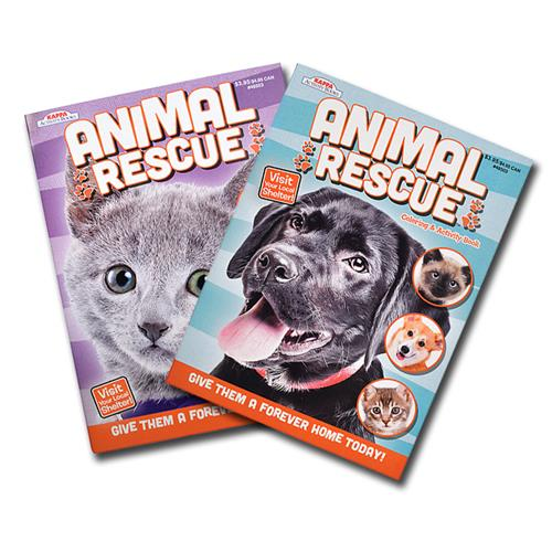 Wholesale Animal Rescue Color and Activity Book 2 Titles 96 Pages