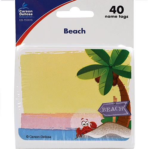 Wholesale 40 COUNT BEACH NAMETAGS