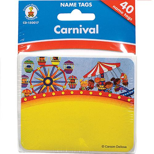 Wholesale 40 COUNT CARNIVAL NAMETAGS