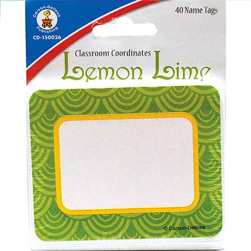 Wholesale 40CT LEMON LIME NAMETAGS