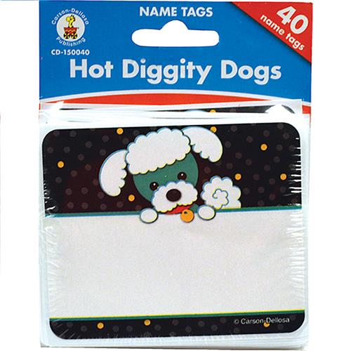 Wholesale 40CT HOT DIGGITY DOGS NAMETAGS