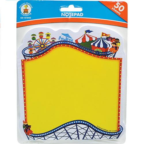 Wholesale 50 SHEET CARNIVAL NOTEPADS