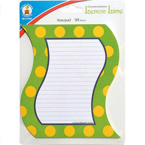 Wholesale Z50 SHEET LEMON LIME NOTEPADS