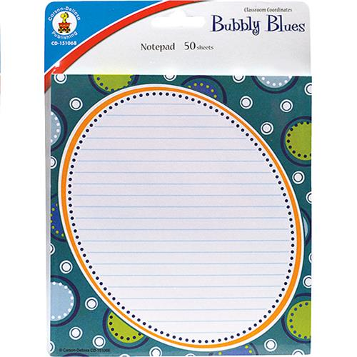 Wholesale 50 SHEET BUBBLY BLUES NOTEPADS