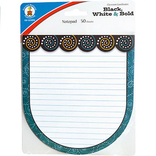 Wholesale 50CT BLACK WHITE&BOLD NOTEPADS