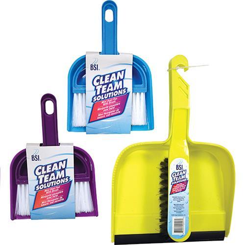 Wholesale 1 Large Dustpan w/Brush & 2 Small Dustpans w/Brushes
