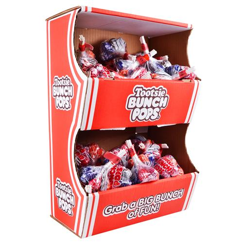 Wholesale Tootsie Roll Bunch Pops Powerwing Display