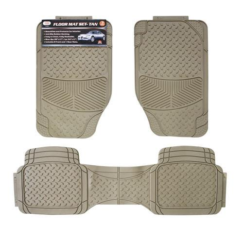 Wholesale 3pc CAR FLOOR MATS - TAN