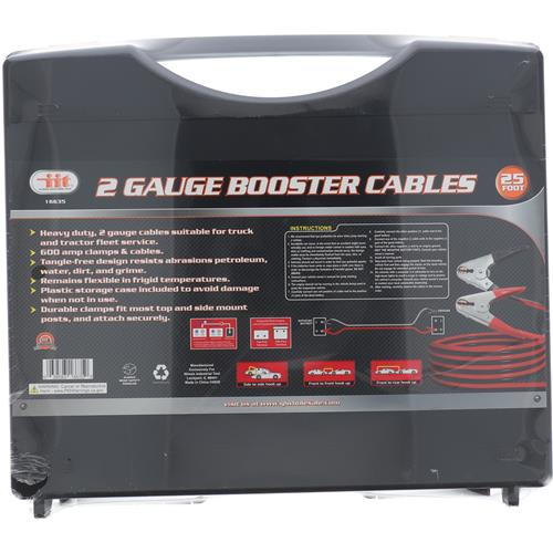 Wholesale 25' 2-Gauge Booster Cable W. Case
