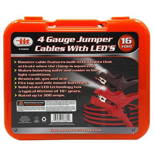 Wholesale 16' 4 Gauge Jumper Cables With LED's