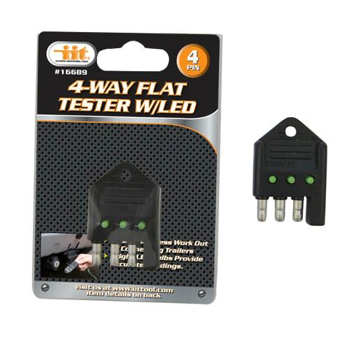 Wholesale 4-Way Flat Tester with LED
