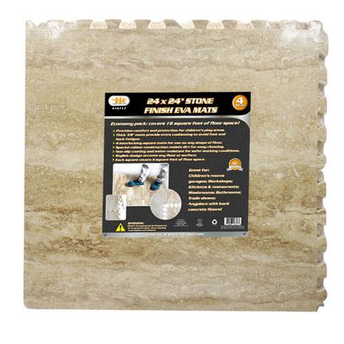 "Wholesale 4pc24x24""STONE FINISH EVA MATS"