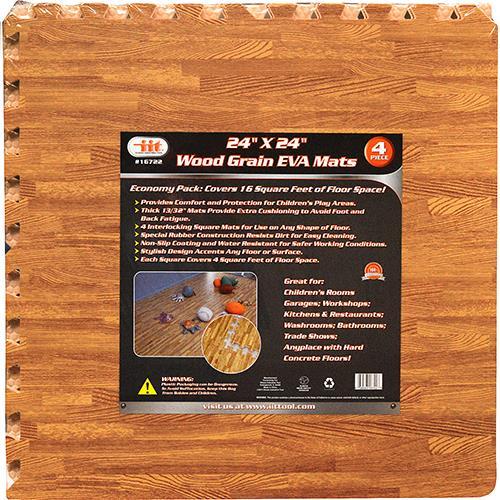 "Wholesale 24"" x 24"" Wood Grain EVA Mats"