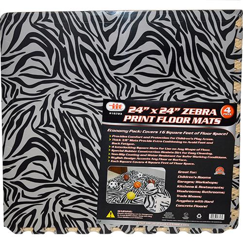"Wholesale 4pc 24""x24"" ZEBRA EVA MATS"