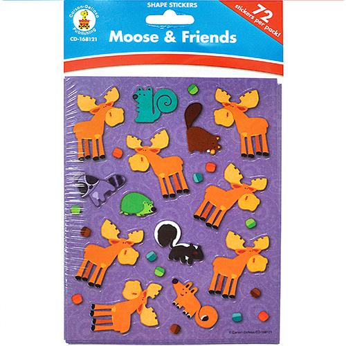 Wholesale 72ct MOOSE & FRIENDS STICKERS