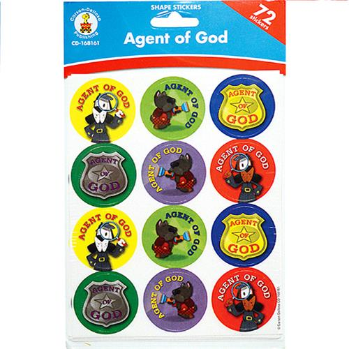 Wholesale 72CT AGENT OF GOD STICKERS