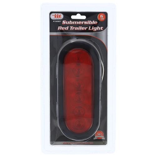 Wholesale 6 LED Red Trailer Submersible Light