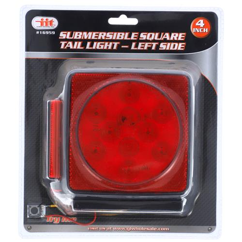 Wholesale 10 LED TRAILER LIGHT-LEFT SUBMERSIBLE D.O.T.