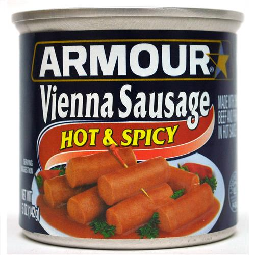 Wholesale Armour Vienna Sausage Hot and Spicy