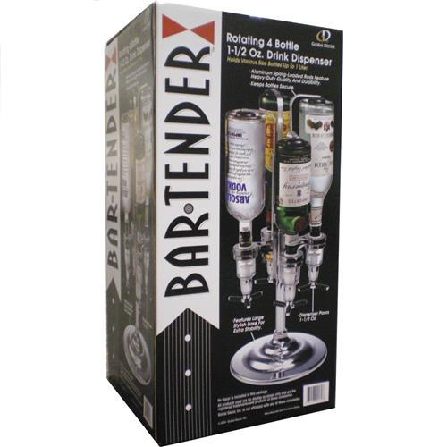 Wholesale 4-Bottle Rotating Bar-Tender D