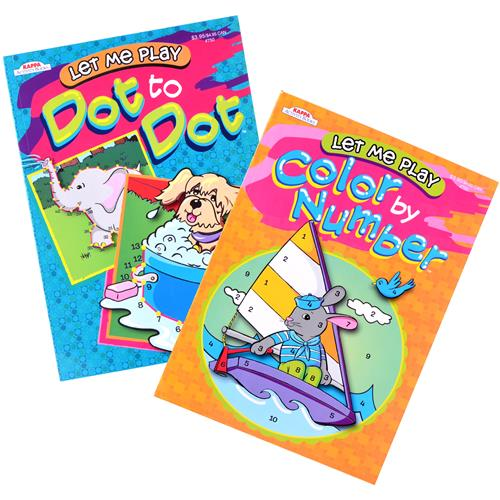 Wholesale Let Me Play Dot to Dot/Color by Numbers Books 2 As