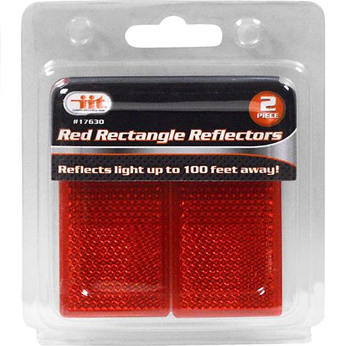 Wholesale Red Rectangle Reflectors 2pc