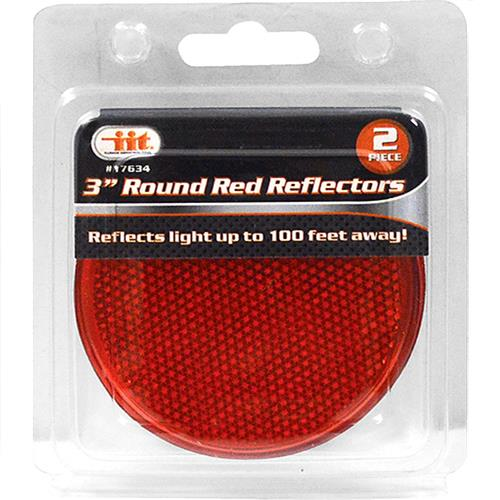 "Wholesale 3"" Round Red Reflectors"