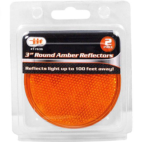 "Wholesale 3"" Round Amber Reflectors"