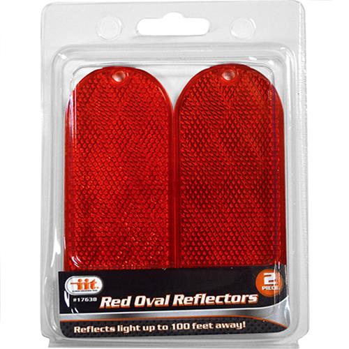 Wholesale Red Oval Reflectors